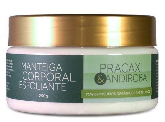 Manteiga Corporal Esfoliante Pracaxi e Andiroba Cativa Natureza - 250g