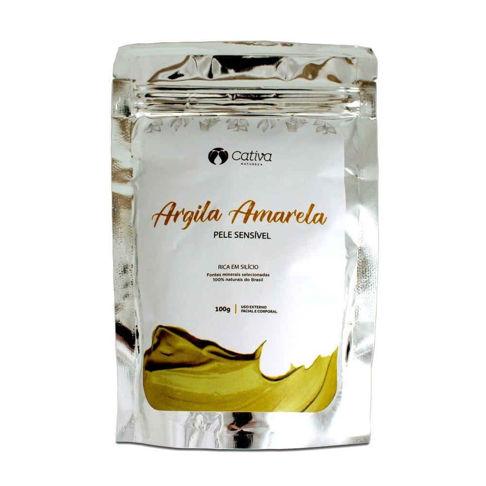 Máscara de Argila amarela natural Cativa Natureza - 100g