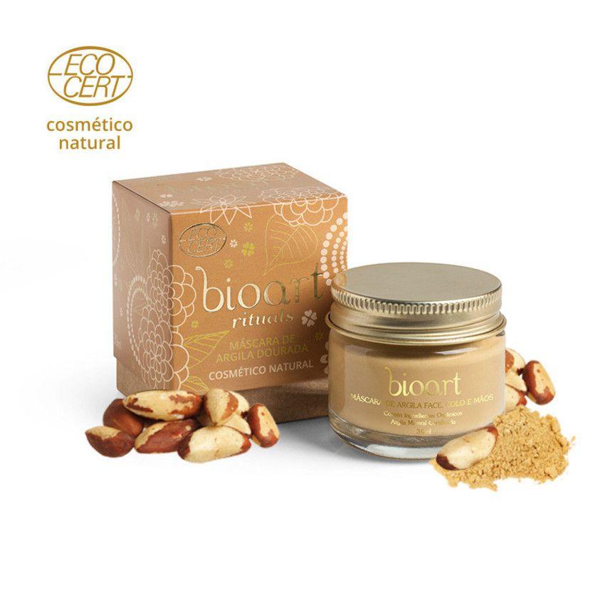 Máscara de Argila Dourada Bionutritiva Bioart 30g - Iluminadora