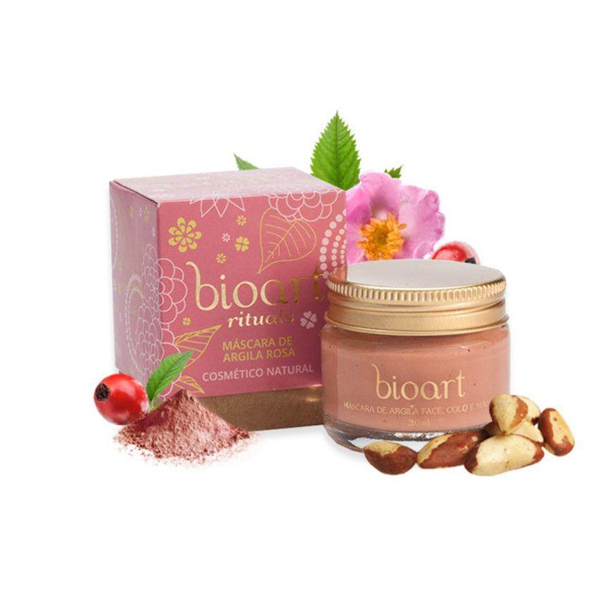 Máscara de Argila Rosa Bionutritiva Bioart 30g - Regeneradora