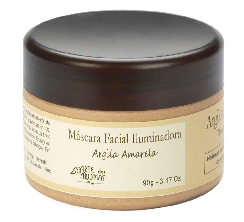 Máscara Facial Iluminadora Argila Amarela Arte dos Aromas - 90g