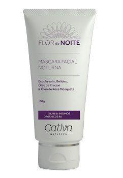 Máscara Facial Noturna Natural Vegana Orgânica Cativa Natureza Flor da Noite - 80g