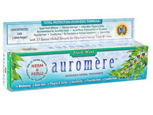 Pasta Dental Natural Ayurvédica Fresh Mint (menta fresca) Auromère - 117g