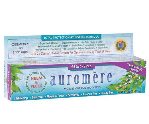Pasta Dental Natural Ayurvédica Mint Free (sem Menta) Auromère - 117g