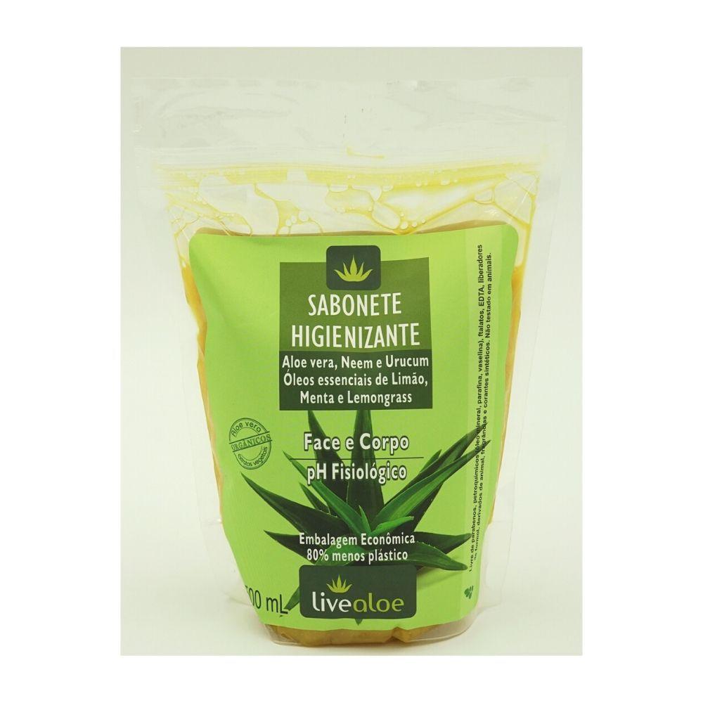 Refil Sabonete Líquido Higienizante Livealoe - 500ml