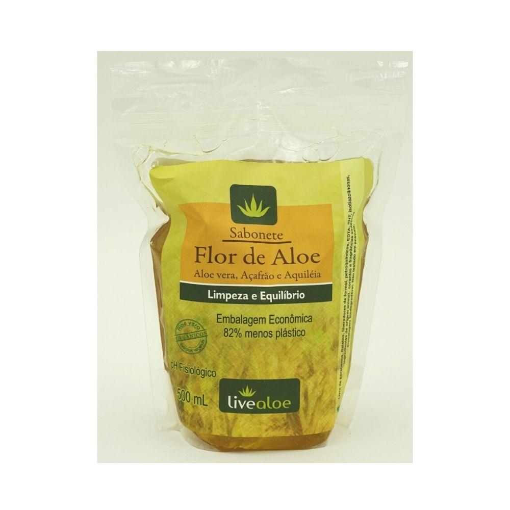 Refil Sabonete Vegano Flor de Aloe Livealoe - 500ml