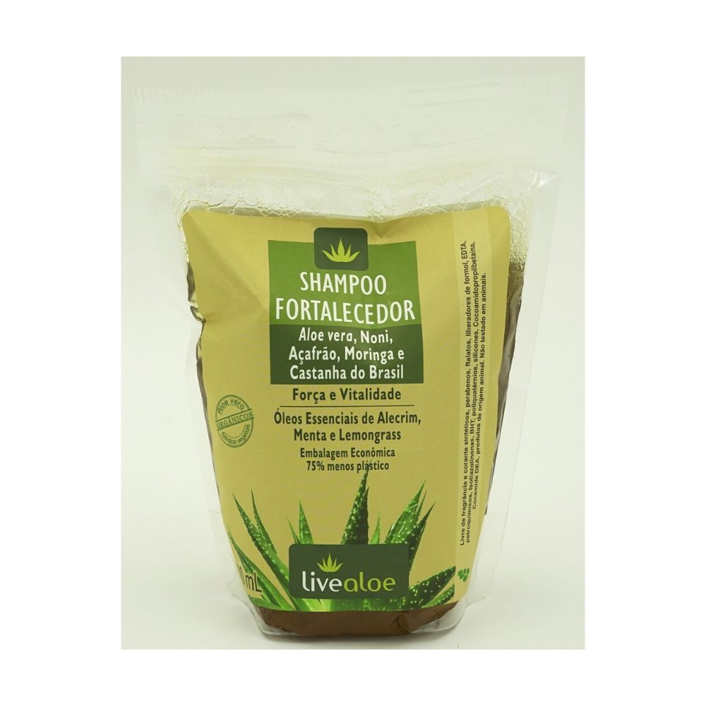 Refil Shampoo Fortalecedor Livealoe - 500ml