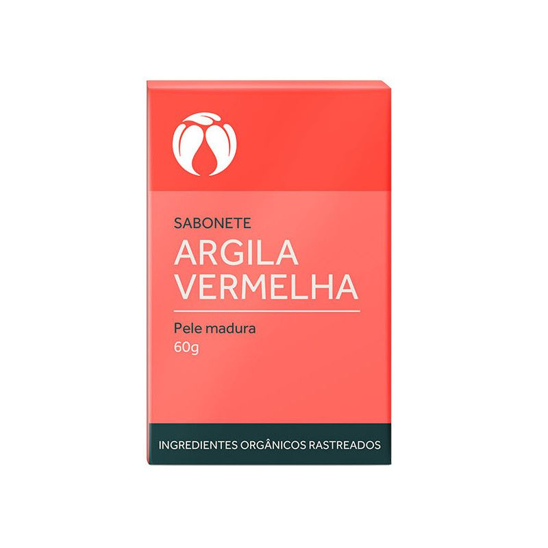 Sabonete de Argila Vermelha para Pele Madura Cativa Natureza - 60 g