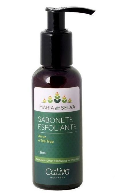 Sabonete Esfoliante Facial Maria da Selva Orgânico Natural Vegano Cativa Natureza - 120ml