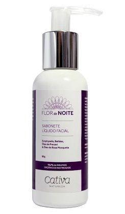 Sabonete Líquido Facial Natural Vegano Orgânico Cativa Natureza Flor da Noite - 80g