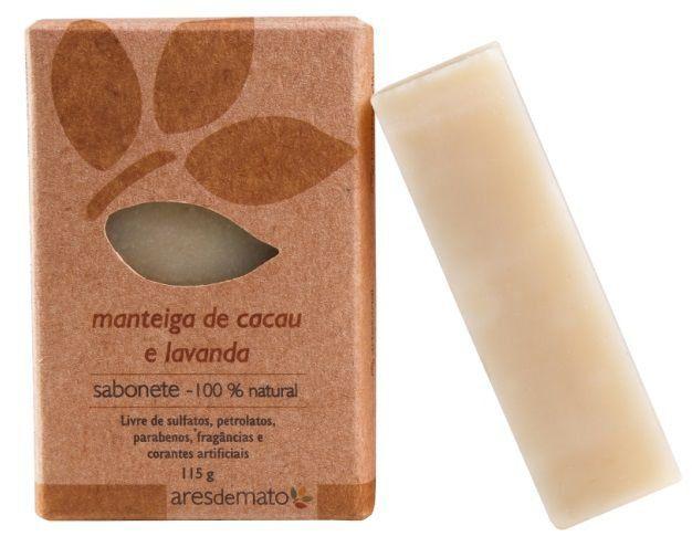 Sabonete Natural Artesanal Vegano Ares de Mato 115g - Manteiga de Cacau e Lavanda