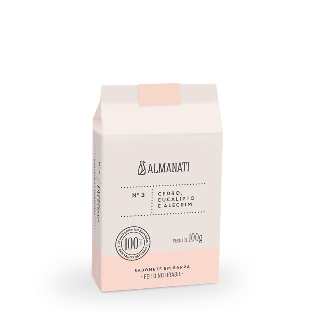 Sabonete Natural Cedro, Eucalipto e Alecrim Almanati - 100g
