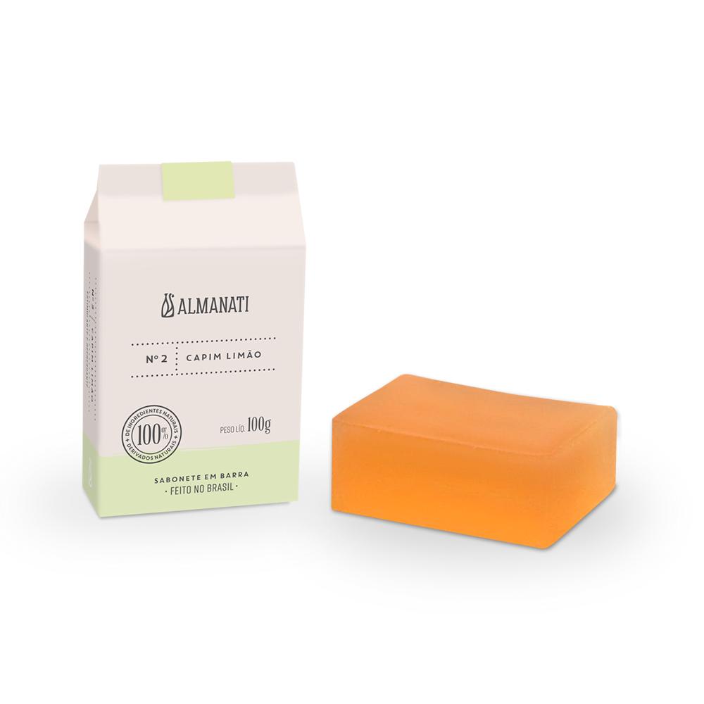 Sabonete Natural de Capim Limão Almanati - 100g