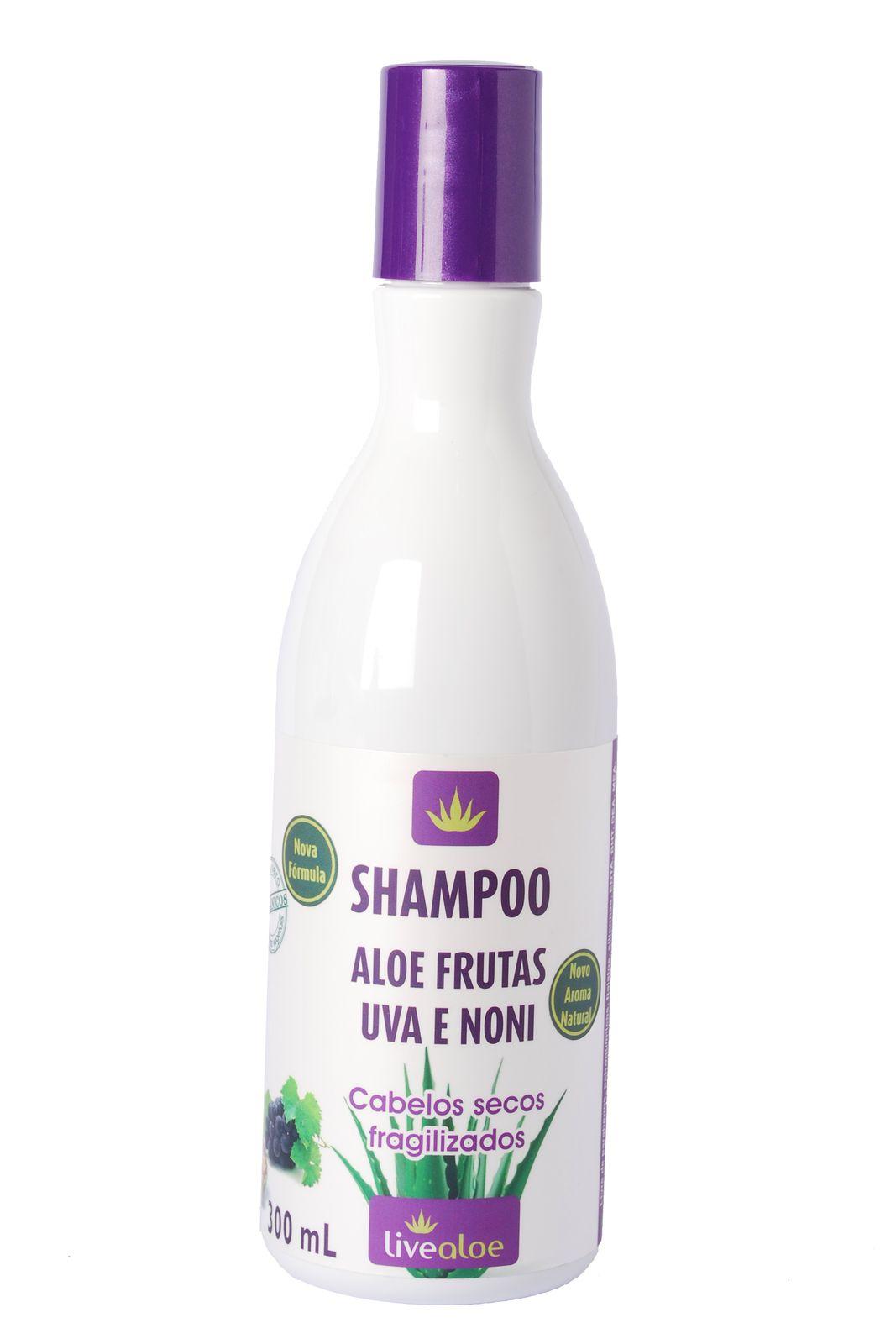 Shampoo Aloe Frutas Uva e Noni Livealoe - 300ml