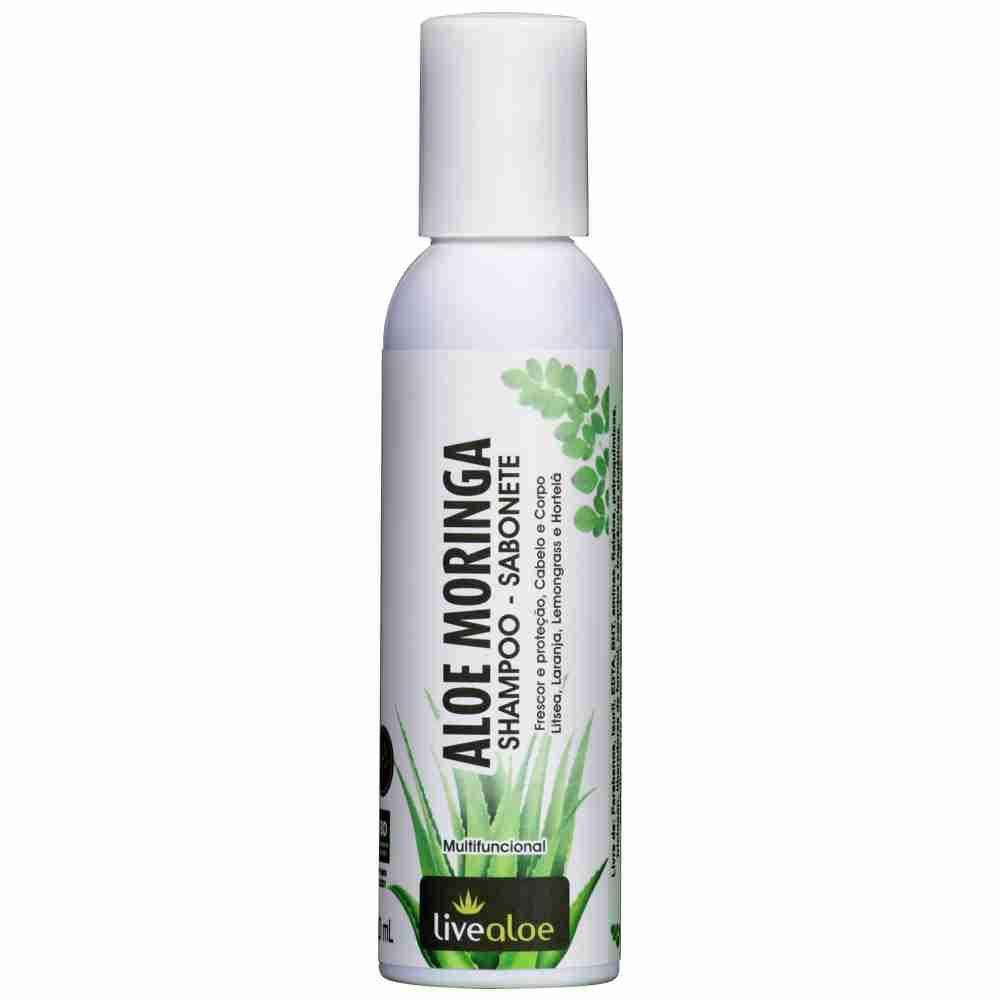 Shampoo e Sabonete Natural Aloe Moringa Livealoe - 120ml