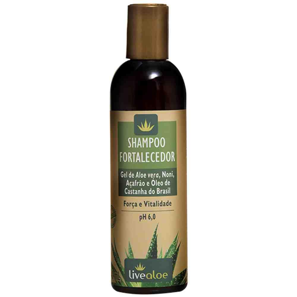 Shampoo Fortalecedor com Aloe Vera Livealoe - 240ml