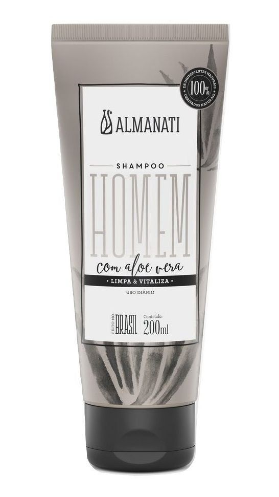Shampoo Natural com Aloe Vera Homem Almanati - 200ml