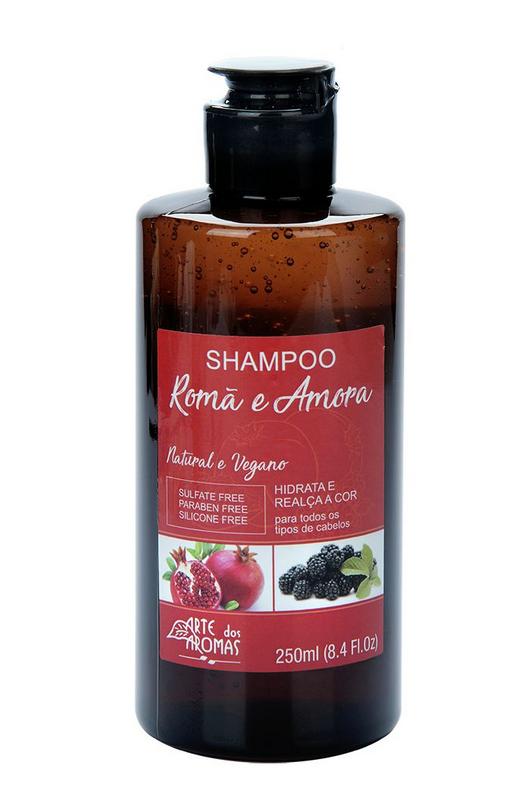 Shampoo Natural Vegano Romã e Amora Arte dos Aromas – 250ml