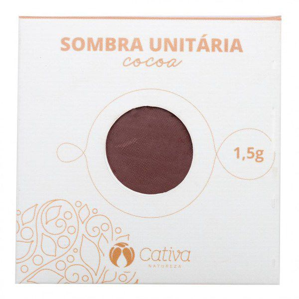 Sombra Vegana Refil Cativa Natureza 1,5g - Cocoa