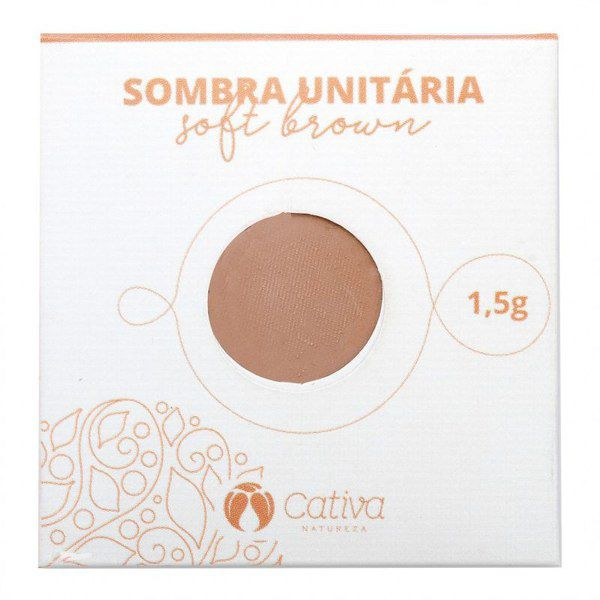Sombra Vegana Refil Cativa Natureza 1,5g - Soft Brown