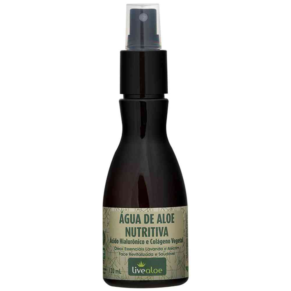 Água de Aloe Nutritiva Natural  Livealoe - 120ml