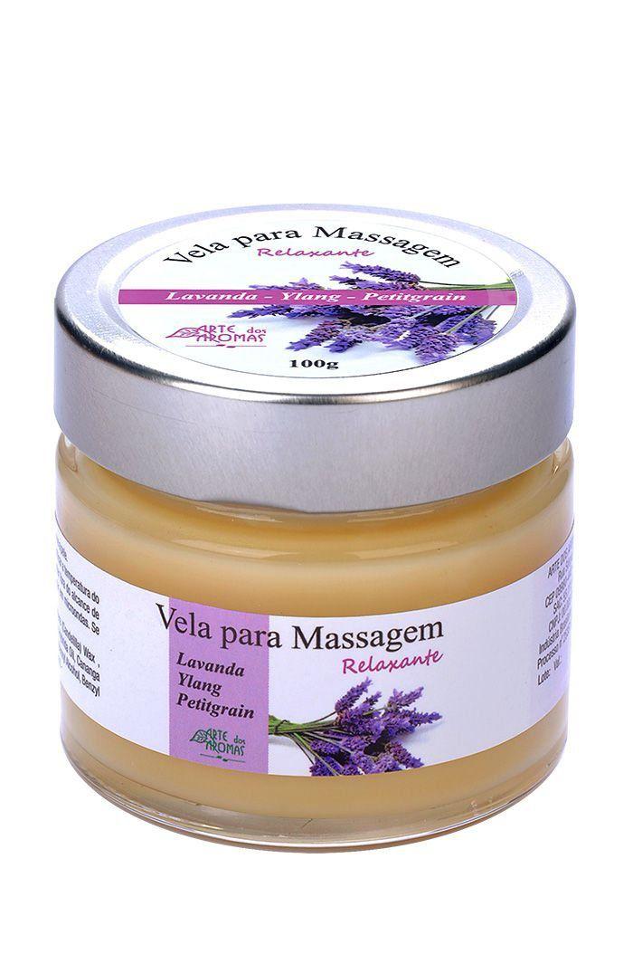 Vela para Massagem Relaxante Natural Arte dos Aromas - 100g