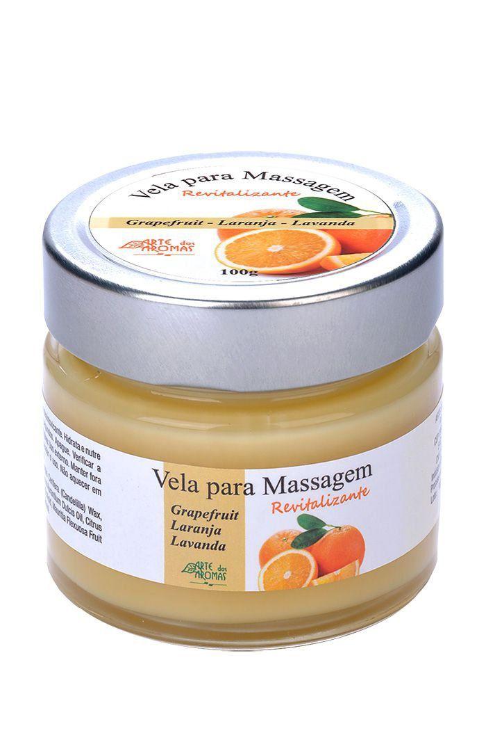 Vela para Massagem Revitalizante Natural Arte dos Aromas - 100g