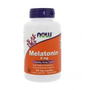 Melatonina 5 mg - Now Foods - 180 Cápsulas Vegetais