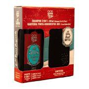 QOD Kit 50s Xampu 240 ml 3 em 1 + Carteira
