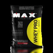 Whey Pro Refil - Max Titanium - Morango 1500g