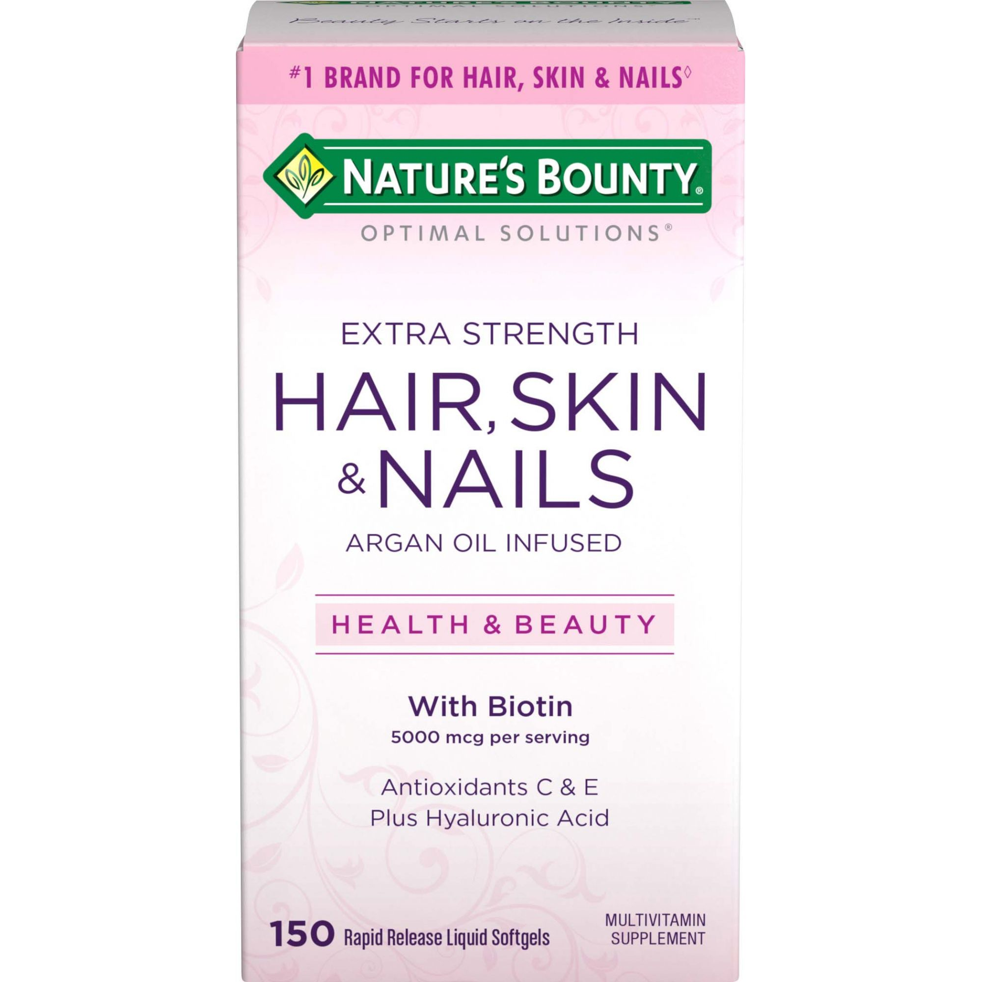 Biotina Natures Bounty 5000mcg - 150 softGel