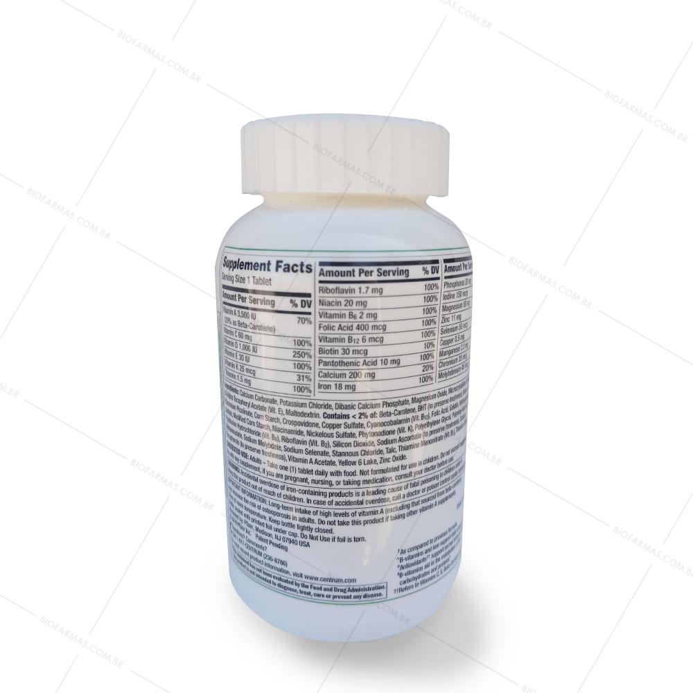 Centrum de A a Zinco multivitamínico - 200 comprimidos