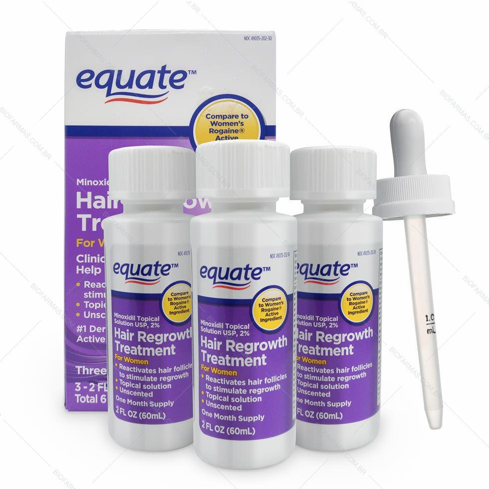 Equate Minoxidil 2% - 1 mês de tratamento