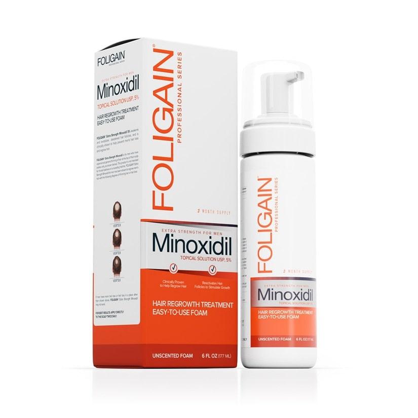 Foligain Minoxidil 5% Espuma - 3 meses de tratamento - 177ml