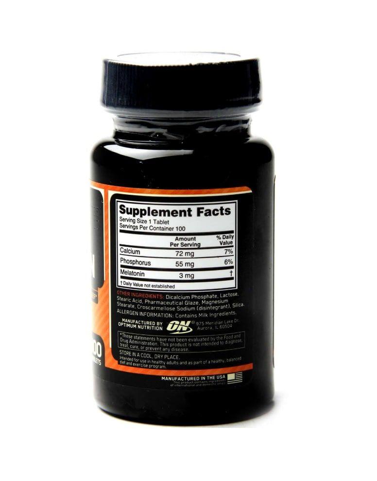 Melatonina 3 mg Optimum Nutrition - 100 tabletes