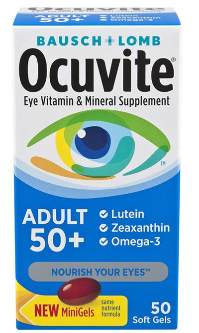 Ocuvite Bausch Lomb 50 Soft Gels Adulto 50+