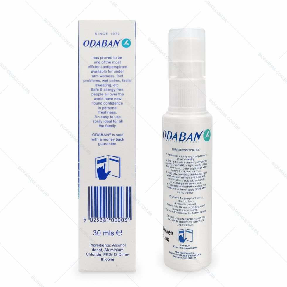 Odaban Spray - Antitranspirante Original
