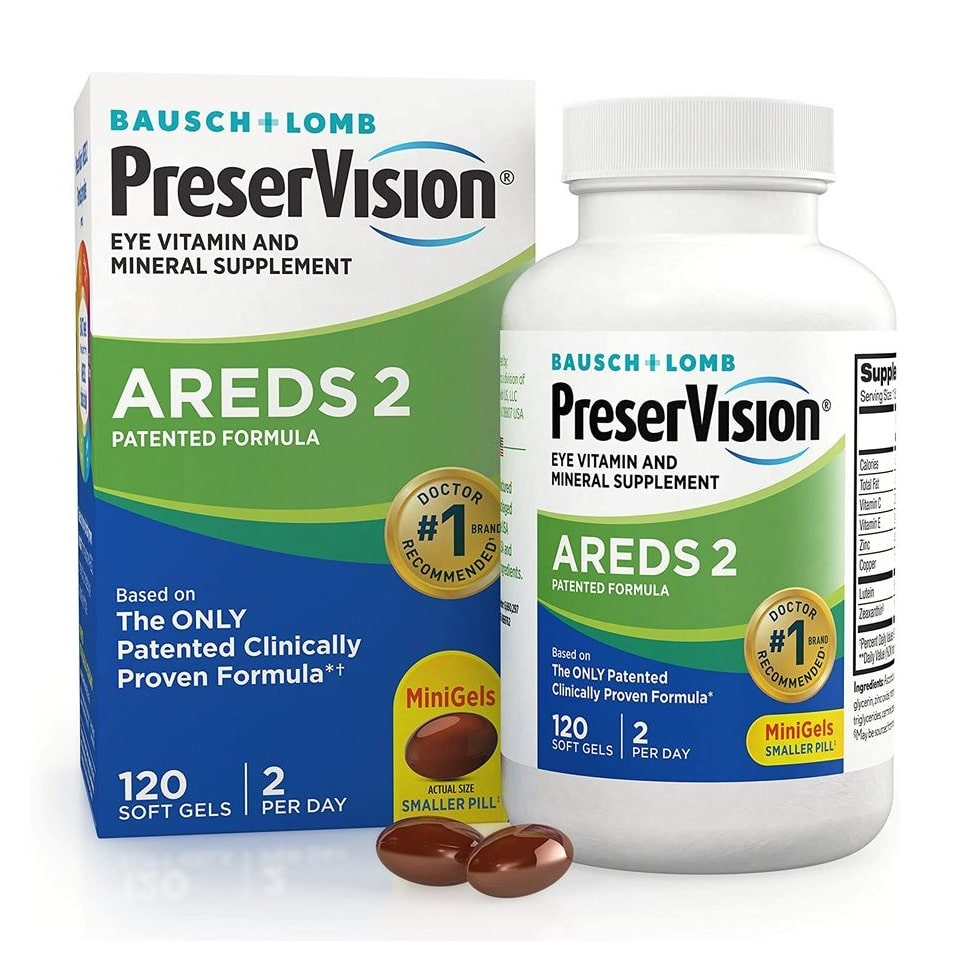 Preservision Areds 2 Formula Bausch + Lomb 120 SoftGels