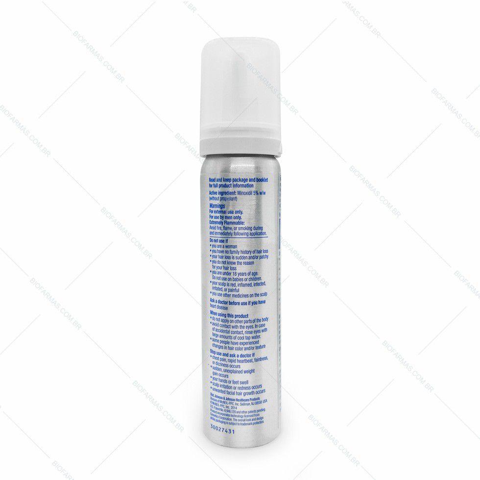 Rogaine Minoxidil 5% Espuma - 3 meses tratamento