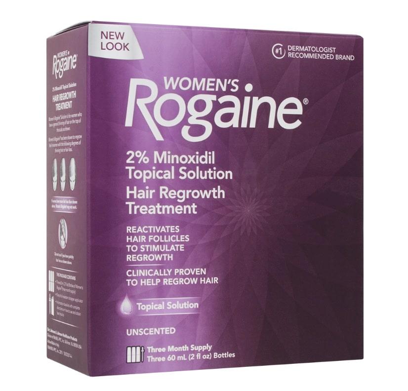 Rogaine Minoxidil 2% - 3 meses tratamento