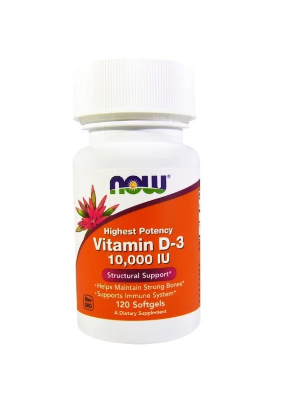 Vitamina D3 10.000 IU (250mcg) - Now Foods - 120 Softgels