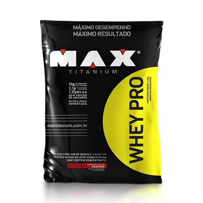 Whey Pro Refil - Max Titanium - Baunilha 1500g