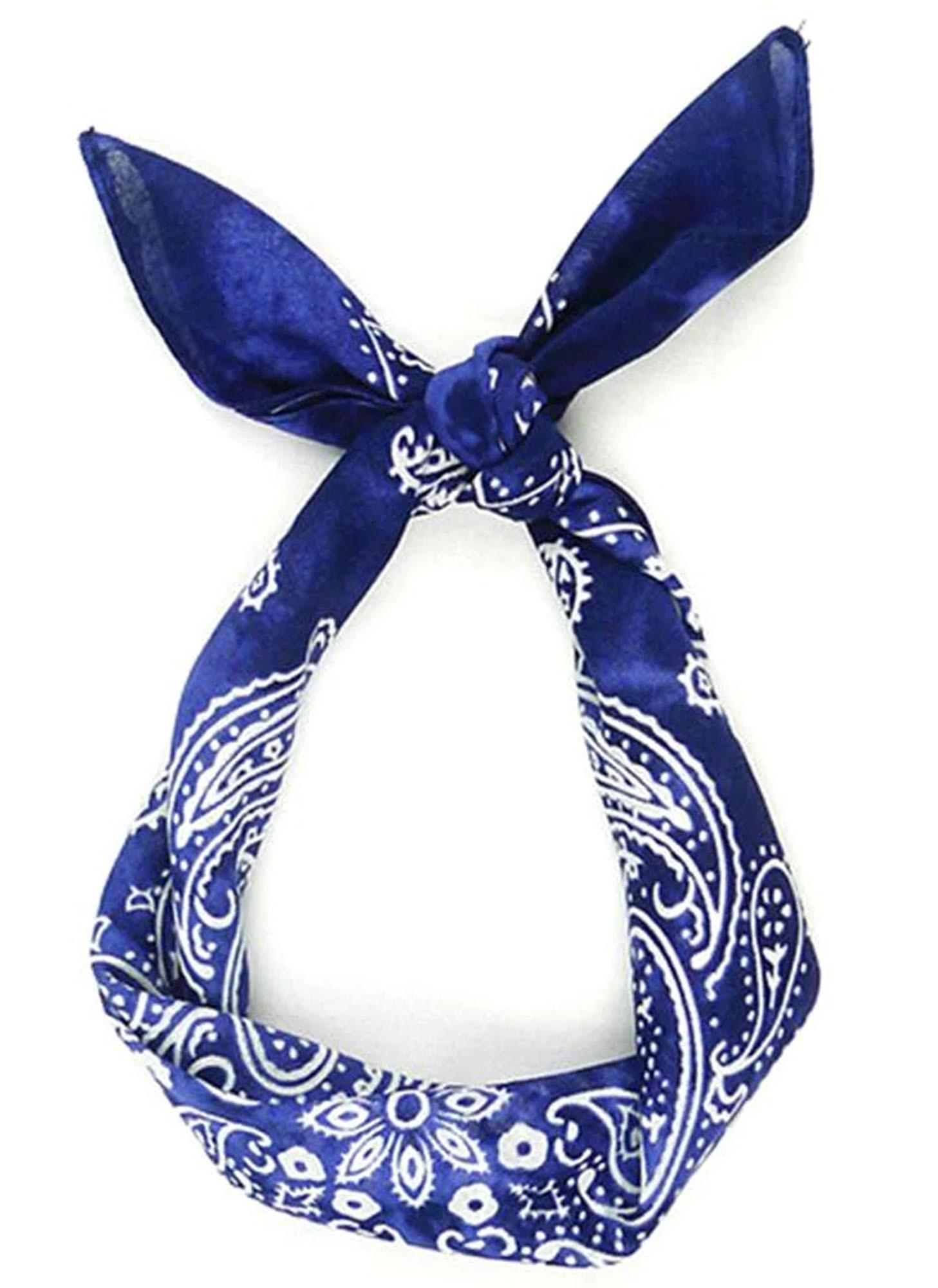 Bandana Tie Dye Azul 100% Algodão