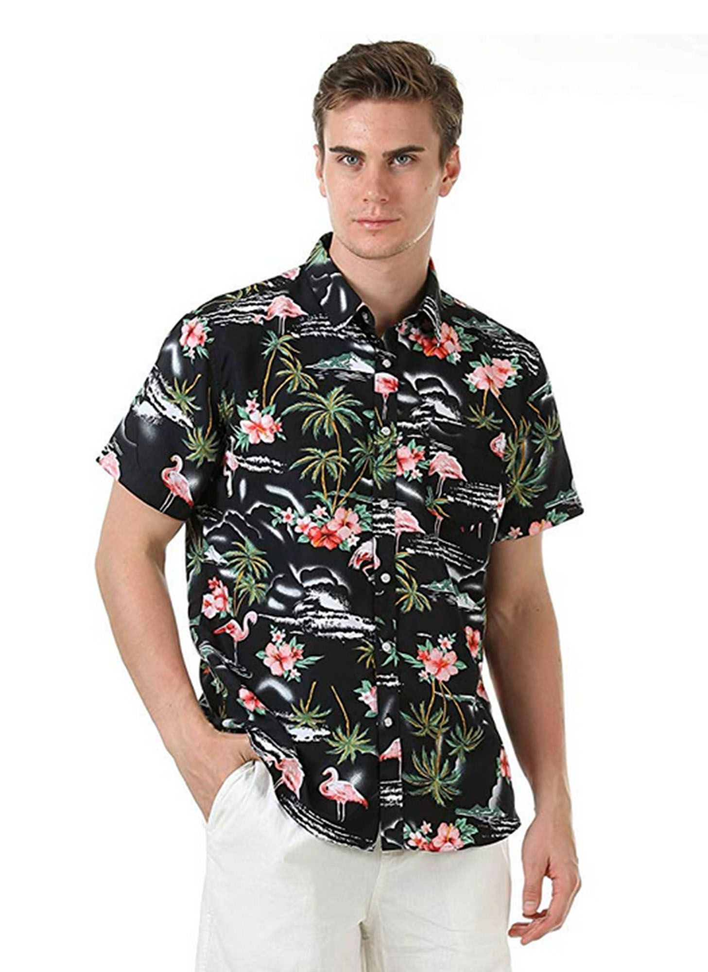 CAMISA TROPICAL VIBES BLACK