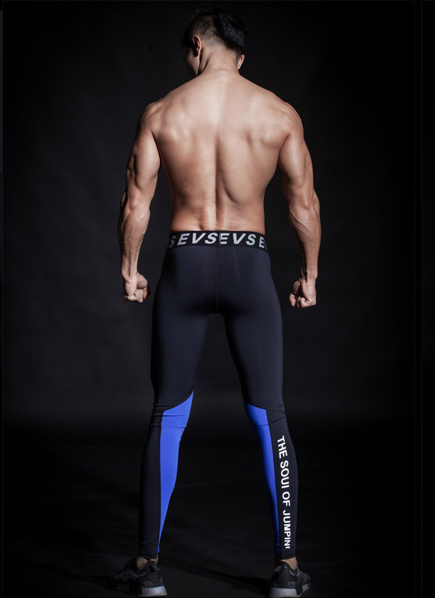 LEGGING ESPORTIVA BLACK & BLUE