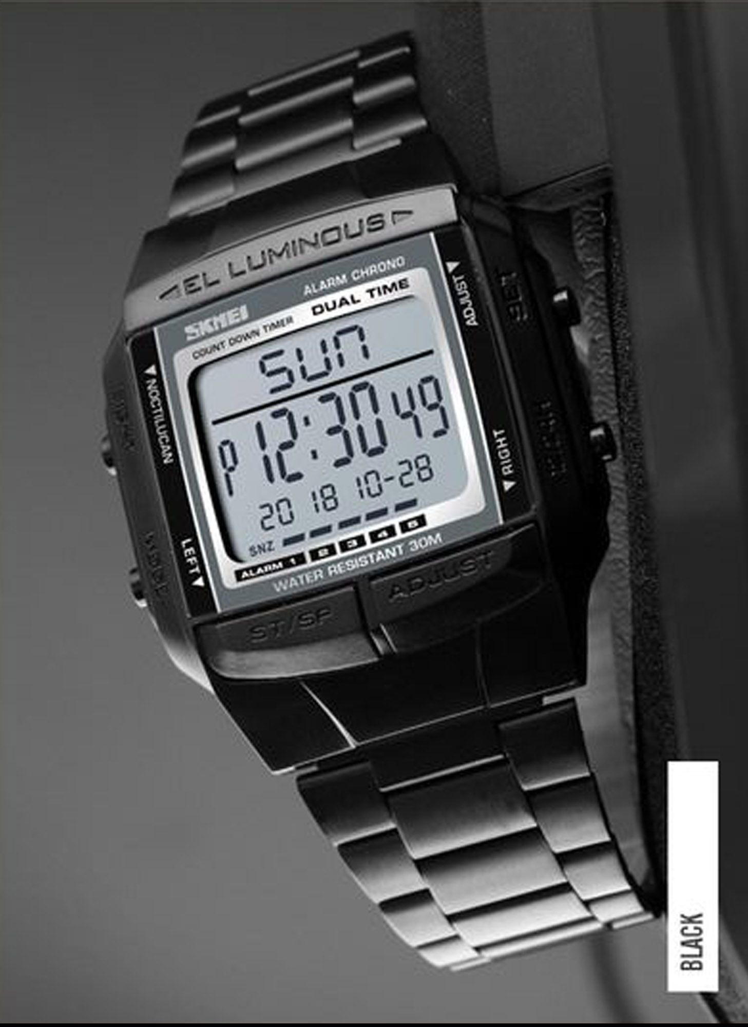 SKMEI SPORTS INOX BLACK