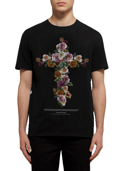 CAMISETA CROSS AND FLOWERS