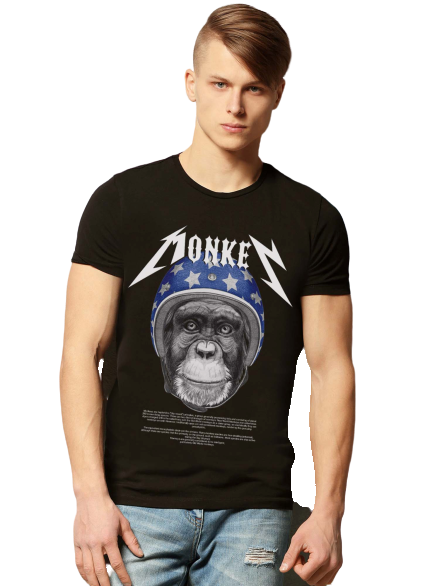 CAMISETA ROCK MONKEY