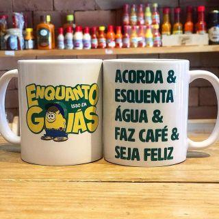 """Caneca """"Acorda & Esquenta água & faz um café"""" 320ml"""
