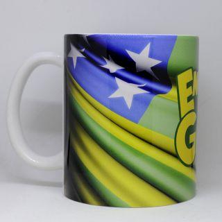 Caneca Bandeira do Estado de Goiás modelo1 - Logo